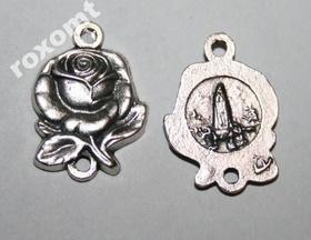 Łącznik do różańca Różyczka + Objawienie Maryji 2 oczka