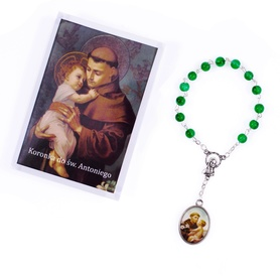 Koronka różaniec do św. Antoniego + instrukcja