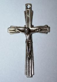 Krzyżyk metalowy do różańca zawieszka krzyż prosty
