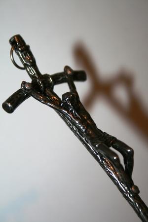 11cm KRZYŻ krzyżyk papieski metalowy OKSYDOWANY (5)