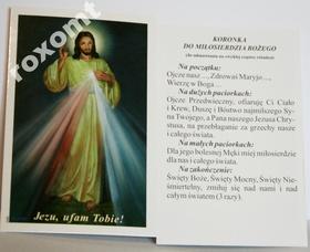 Obrazek + Koronka do Miłosierdzia Bożego Jezus