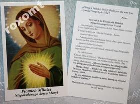 Płomień miłości Niepokalanego Serca Maryji koronka