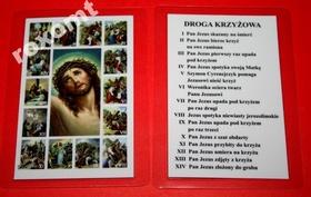 Droga Krzyżowa obrazek sceny stacje Jezus krzyż