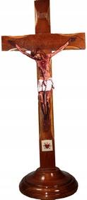 Duży 44cm PASYJNY KRZYŻ Serca Jezusowego Stojący