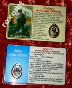 Św. Juda Tadeusz laminowany obrazek + medalik