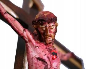 28cm PASYJNY KRZYŻ Serca Jezusowego Końca Czasu