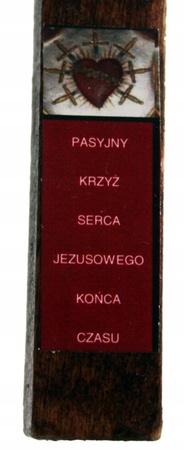 21cm PASYJNY KRZYŻ Serca Jezusowego Końca Czasu (7)