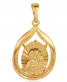 Medalik pozłacany ze stali chirurgicznej jak złoty