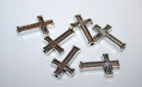 METALOWY łącznik różańca krzyżyk przewlekany 15mm